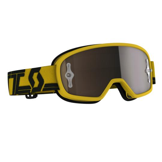MASQUE SCOTT BUZZ MX PRO YELLOW / BLACK - ECRAN IRIDIUM WORKS