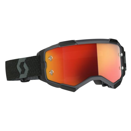 MASQUE MOTO CROSS SCOTT FURY - BLACK/ORANGE CHROME WORKS